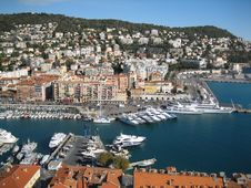 A Beautiful Seaport In France Royalty Free Stock Image