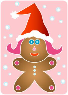 Free Santa Gingerbread Girl Stock Photography - 3680252