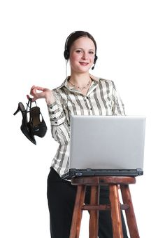 Free The Girl At Office Royalty Free Stock Photos - 3680878