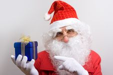 Free Santa With Gift Royalty Free Stock Images - 3680949
