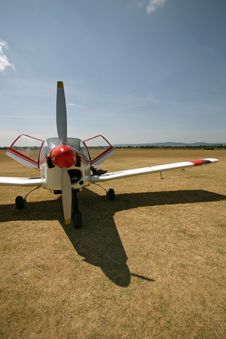 Free Plane Red Front Royalty Free Stock Photo - 3683095