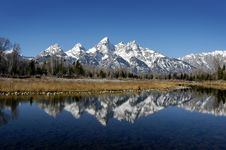 Free Tetons Reflection In River Stock Photography - 3683482