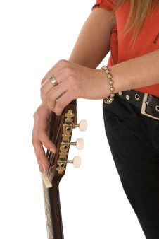 Free Youth Body Likeness Guitar Stock Photo - 3683590