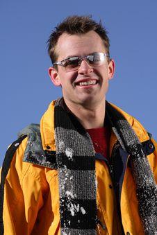 Free Happy Skier At The Ski Slope Stock Photos - 3683883