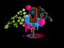 Free Speaker Background Royalty Free Stock Photos - 3684128
