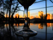 Free Sunset Glass Stock Photo - 3684170