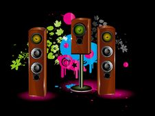 Free Speaker Background Stock Photo - 3684360