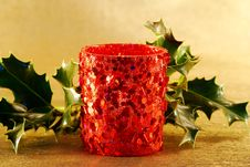 Free Christmas Candle Royalty Free Stock Photography - 3684787