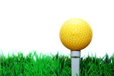 Free Golfball On Tee Stock Photography - 3686282