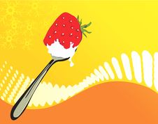 Free Strawberry In A Spoon Royalty Free Stock Image - 3686906