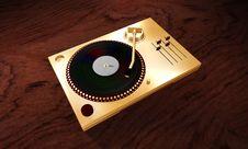 Vinyl Turntable Royalty Free Stock Photo
