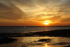 Free Sunset At Seven Sisters Stock Photo - 3688090