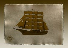 Free Ship And Compass Royalty Free Stock Images - 3688409