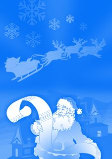 Free Santa And His List Stock Photography - 3688482