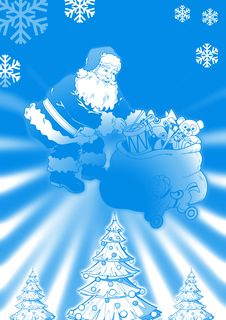 Free Santa With Gifts Bag Stock Photography - 3688502