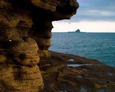 Free Sandstone Mountain Near Sea Stock Images - 3688894