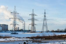 Free Electricity Pylons Royalty Free Stock Photos - 36888898
