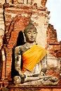 Free Anciant Buddhist Temple Ruins In Ayuttaya, Thailan Stock Photos - 3690693