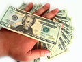Free US Twenty Dollar Bills & Hand Royalty Free Stock Photos - 3695068