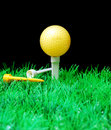 Free Golfball On Tee Royalty Free Stock Image - 3695316