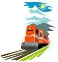Free Retro Styled Speeding Train Stock Photography - 3699912