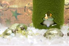 Free Festive New-year Candle Royalty Free Stock Image - 3690016