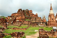 Free Ancient Buddhist Temple Ruins In Ayuttaya, Thailan Stock Images - 3690664
