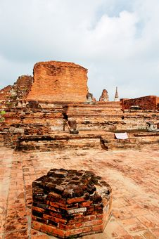 Free Ancient Buddhist Temple Ruins In Ayuttaya, Thailan Royalty Free Stock Image - 3690676