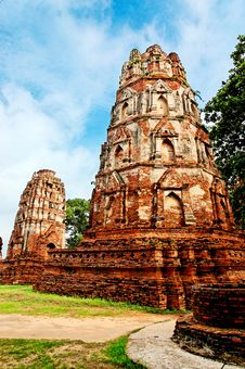 Free Ancient Buddhist Temple Ruins In Ayuttaya, Thailan Royalty Free Stock Photography - 3690687