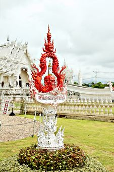 Free Unique White Buddha Temple In Thailand Stock Photography - 3690742