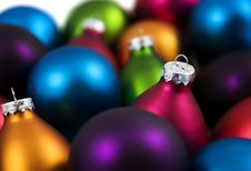 Free Colorful Christmas Baubles Royalty Free Stock Images - 3690869