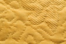 Free Yellow Embossed Textile Royalty Free Stock Photography - 3691877