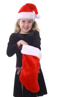 Free Child Reaching In Stocking Stock Photography - 3692162
