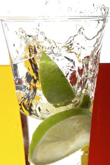 Free Glass With Juice And Lemon Stock Image - 3692621