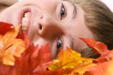 Free Laying In Autumn Leaves Royalty Free Stock Image - 3693006