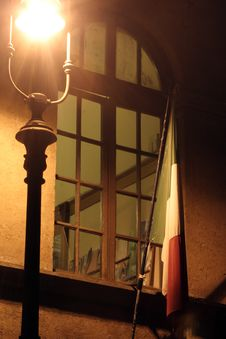 Free Lamppost Window And Italian Flag Stock Photo - 3693160