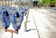 Parking Meters Stock Image