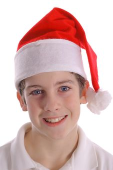 Free Boy In Santa Hat Straight Royalty Free Stock Photo - 3693365