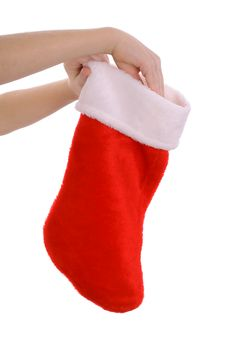 Free Childs Hand Reaching Into Stocking Stock Images - 3693374