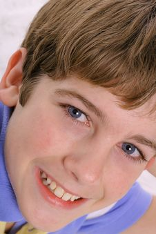 Free Blue Eyed Child Headshot Stock Photo - 3693390