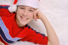Free Santa Boy Headshot Royalty Free Stock Photos - 3693398