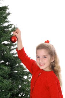 Free Child Hanging Ornament Smile Copyspace Royalty Free Stock Images - 3693469