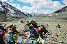 Free Tibetan Prayer Flags Royalty Free Stock Photography - 3693507