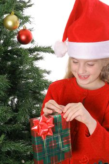 Child With Present Royalty Free Stock Images
