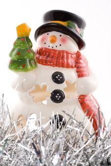 Free Porcelain Snowman, Christmas Royalty Free Stock Image - 3693666