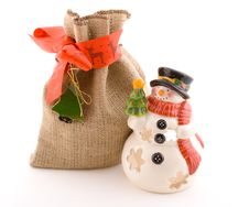 Free Snowman And Gifts, Wraps Stock Photos - 3693743