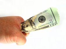 Free US Twenty Dollar Bills & Hand Royalty Free Stock Photos - 3694768