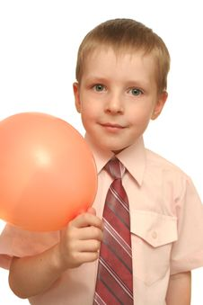 Free Boy With A Balloon Stock Image - 3695001