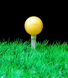Free Golfball On Tee Stock Photography - 3695292