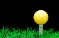 Free Golfball On Tee Royalty Free Stock Image - 3695346